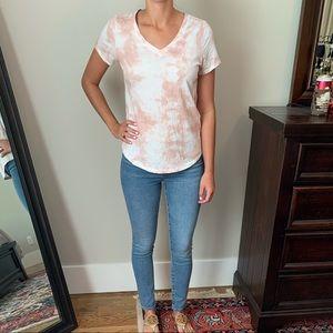 Old Navy pink and white tye dye shirt